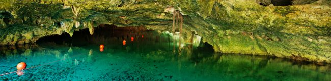 Underwater caves Cancun